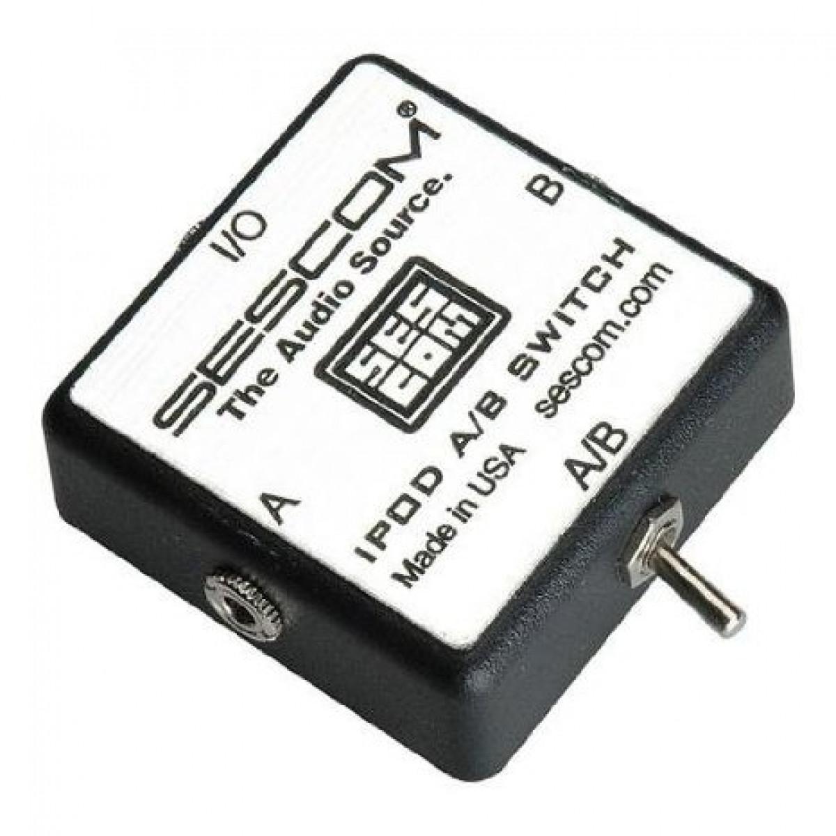 Sescom SES-IPOD-AB iPod Stereo Audio MP3 FLAC WMA Player A/B Switch 3 5mm  (1/8)