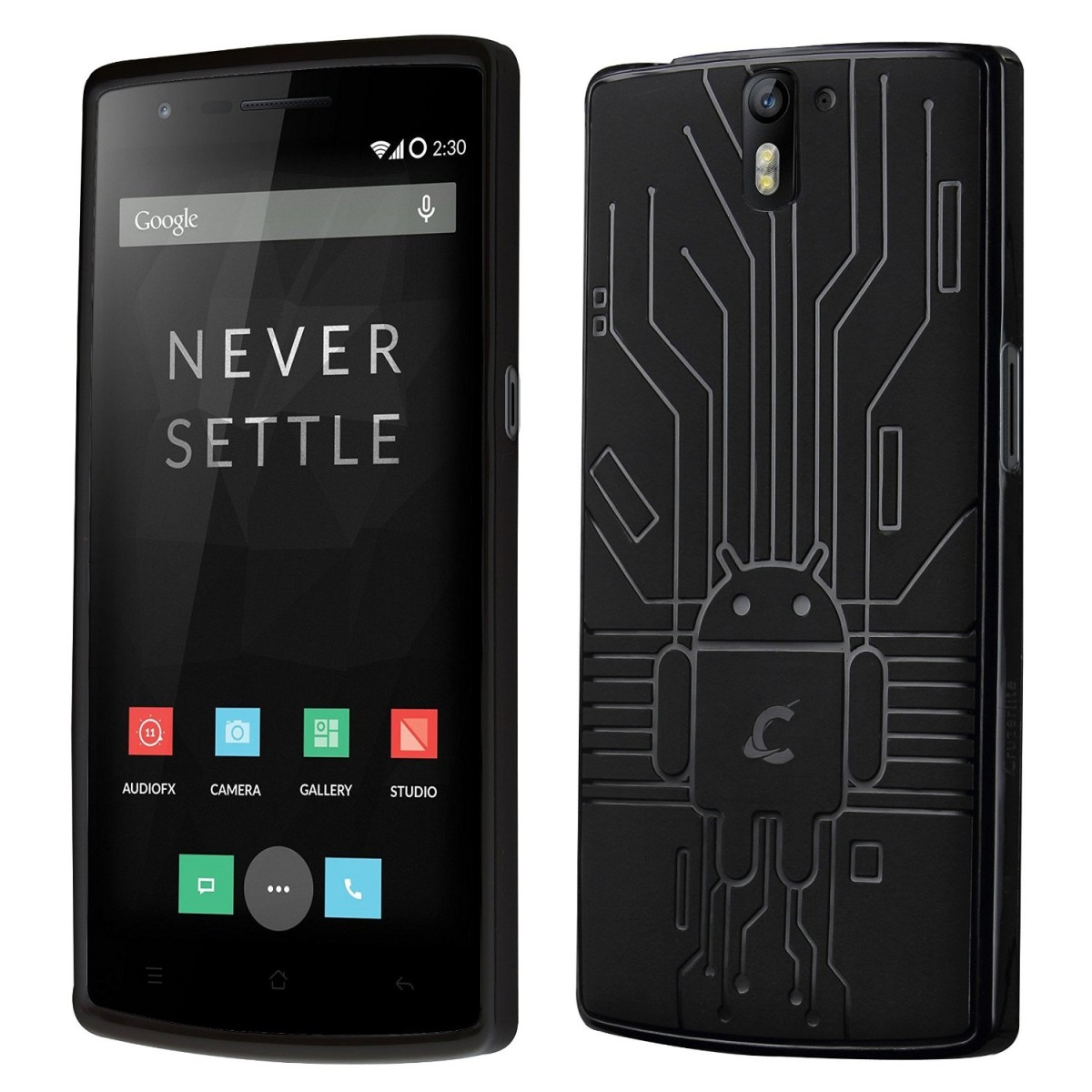 size 40 d5b70 ff794 OnePlus One Case, Cruzerlite Bugdroid Circuit TPU Case Compatible for  OnePlus One - Black