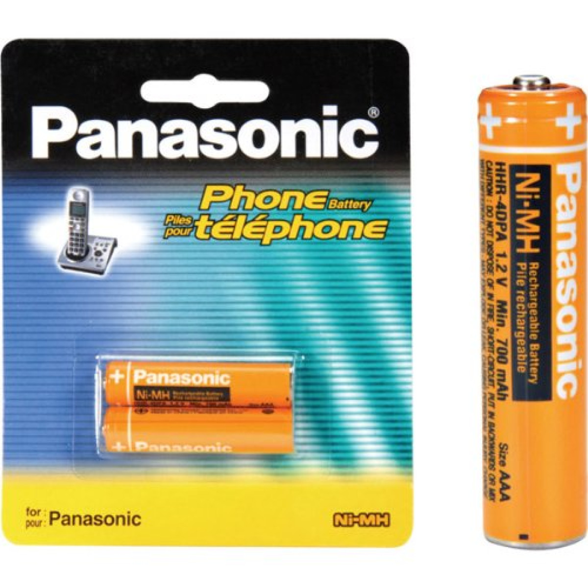 Panasonic Nimh Aaa Rechargeable Battery For Cordless Phones