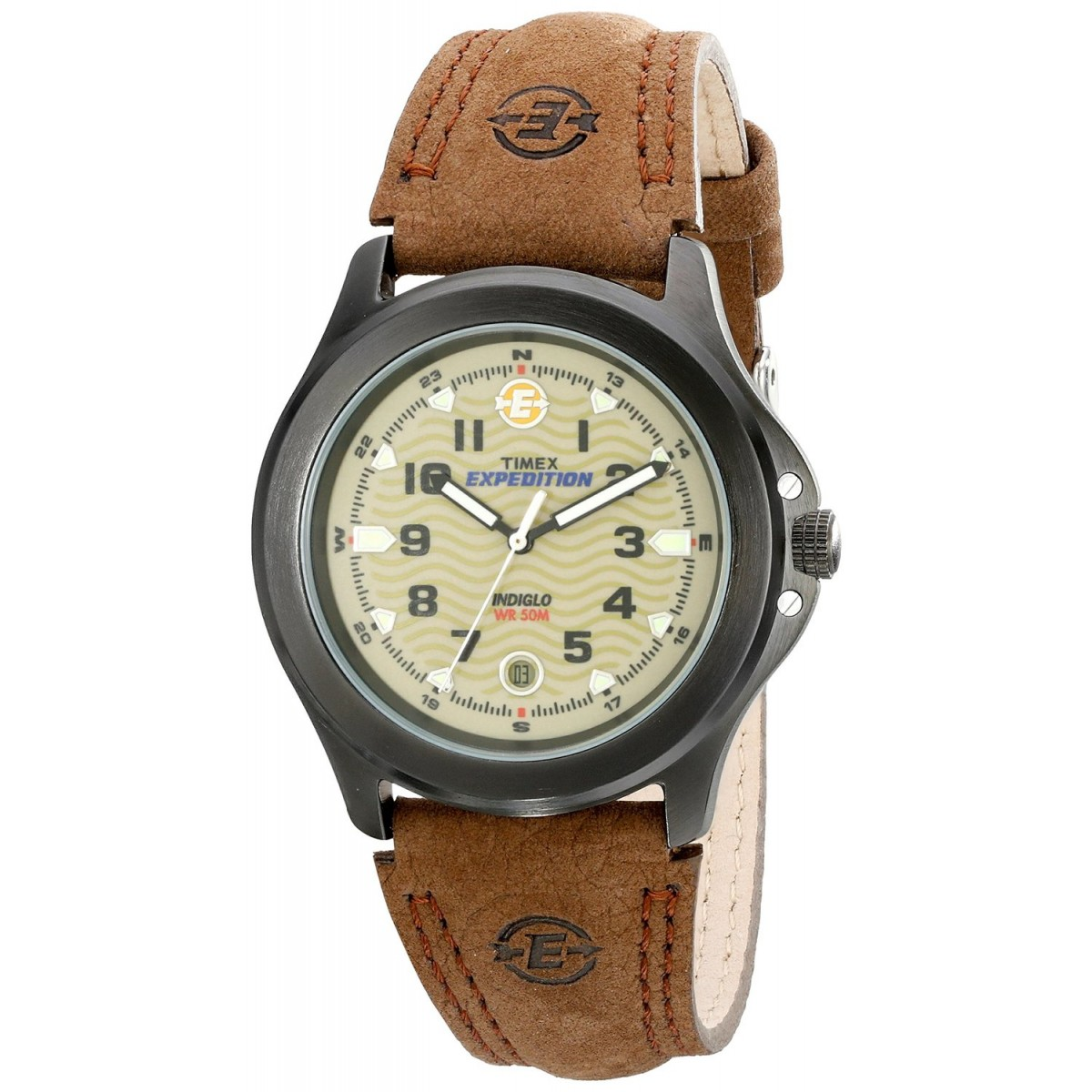 d9cc094cd Timex Men's Metal Field EXPEDITION Brown Leather Strap Watch ...