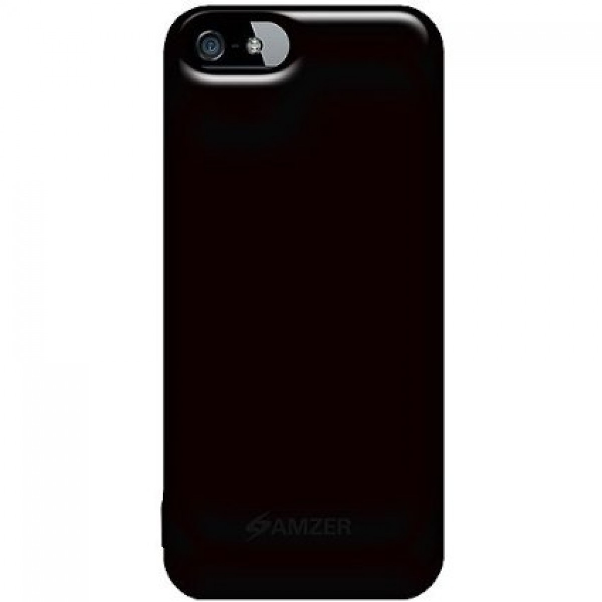 lowest price 4ee17 d5a0a Amzer Soft Gel TPU Gloss Skin Fit Case Cover for Apple iPhone 5, iPhone 5S  (Fits All Carriers) - Black