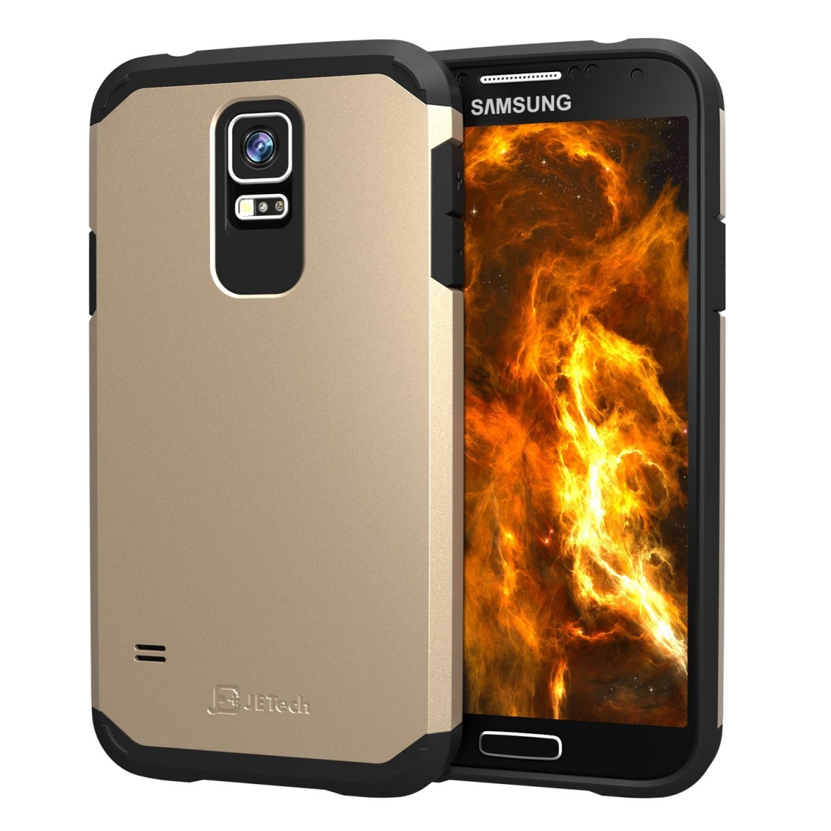promo code 461aa 9de23 S5 case, JETech Super Protective Samsung Galaxy S5 Case Slim Ultra Fit for  Galaxy S5 / Galaxy SV / Galaxy S V (Two-Layer Champagne Gold)