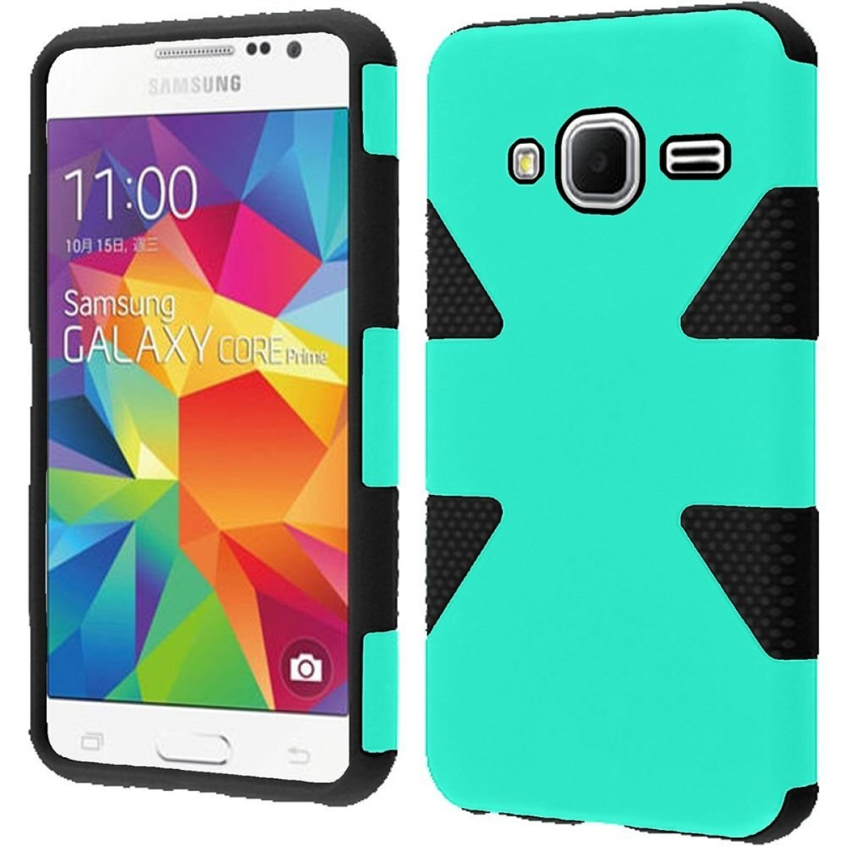 best loved fa1d6 8aeb9 HR Wireless Samsung Galaxy Prevail LTE G360 Core Prime Dynamic Cover Case -  Retail Packaging - Teal/Black