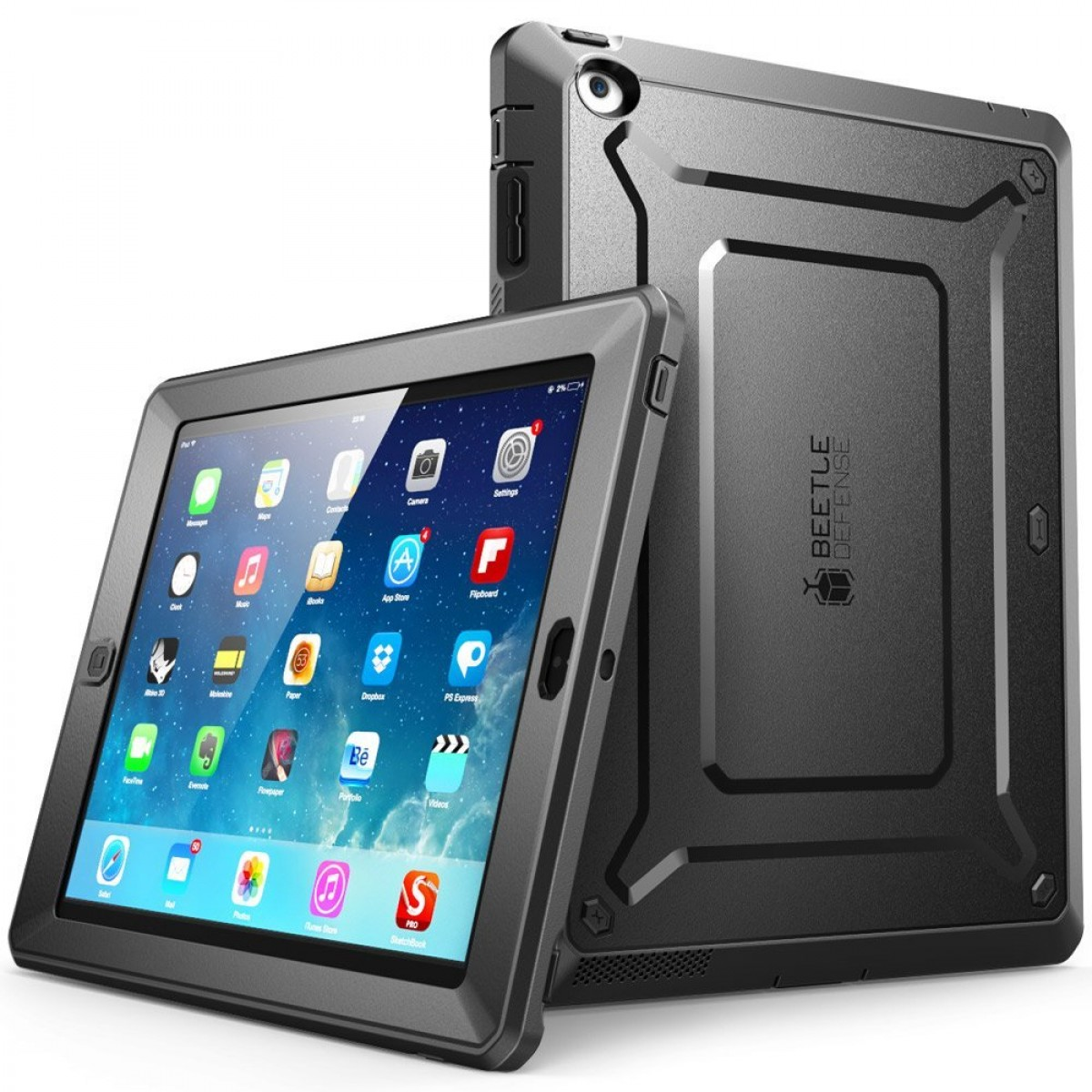online store b9ab9 6ca80 iPad 4 Case, SUPCASE [Heavy Duty] Apple iPad Case [Unicorn Beetle PRO  Series] Full-body Rugged Hybrid Protective Case Cover with Built-in Screen  Prot