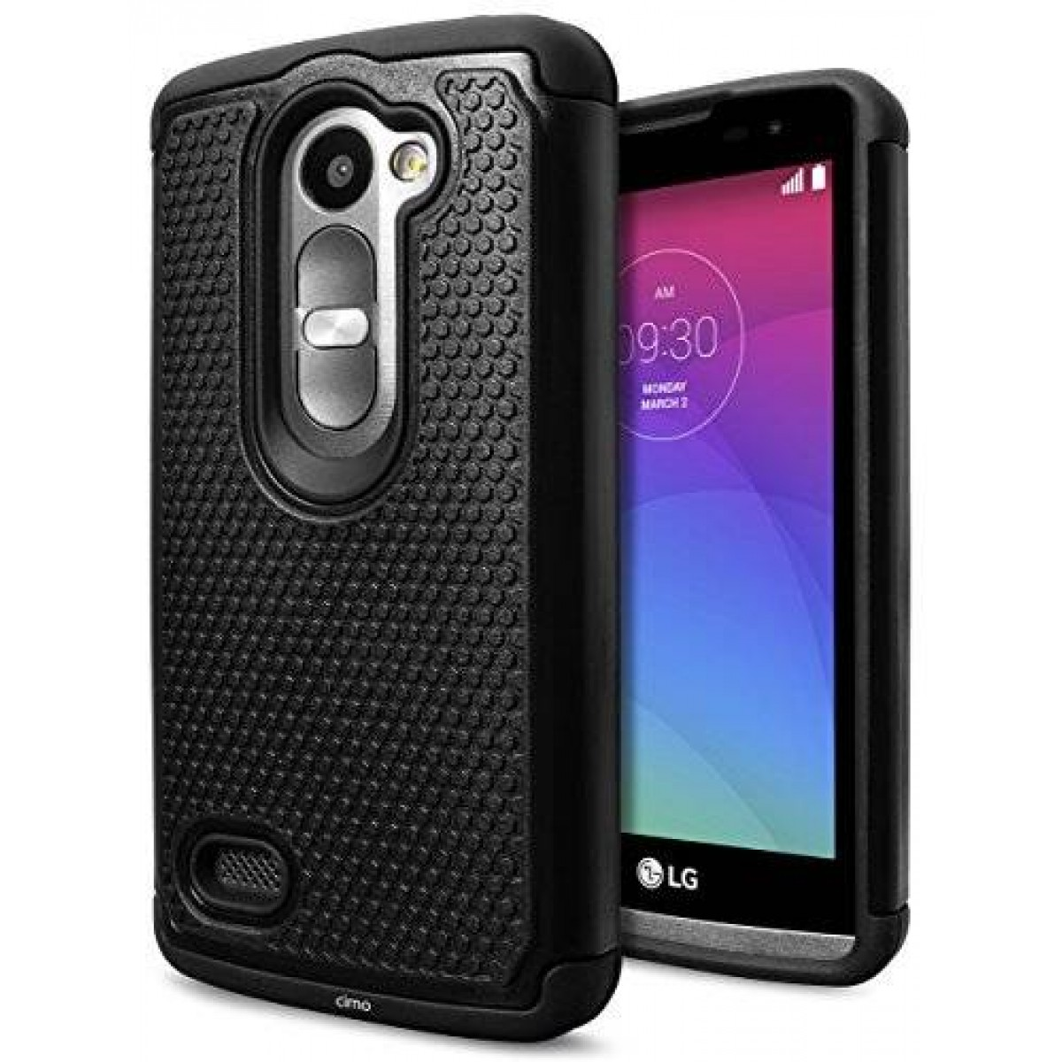 separation shoes e096b 7bc48 LG Leon / Tribute 2 Case, Cimo [Shockproof] Case Heavy Duty Shock Absorbing  Dual Layer Protection Cover for LG Leon / Tribute 2 - Black
