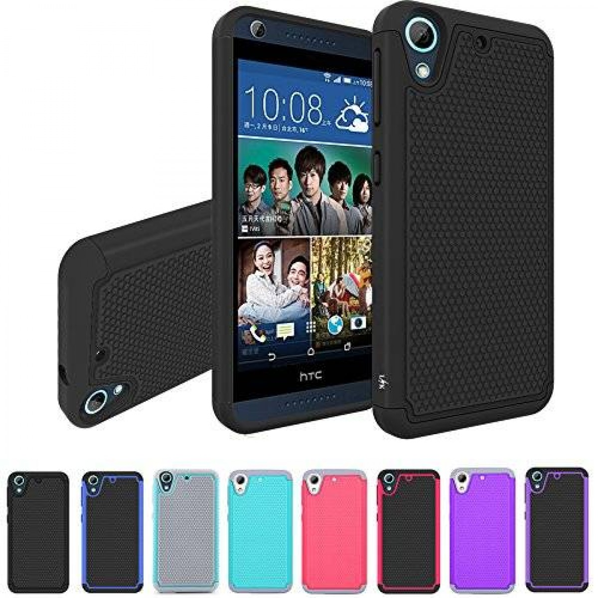 brand new 4b691 80d46 HTC Desire 626 / 626s Case, LK [Shockproof] Hybrid Dual Layer Armor  Defender Protective Case Cover for HTC Desire 626 / 626s (Black)