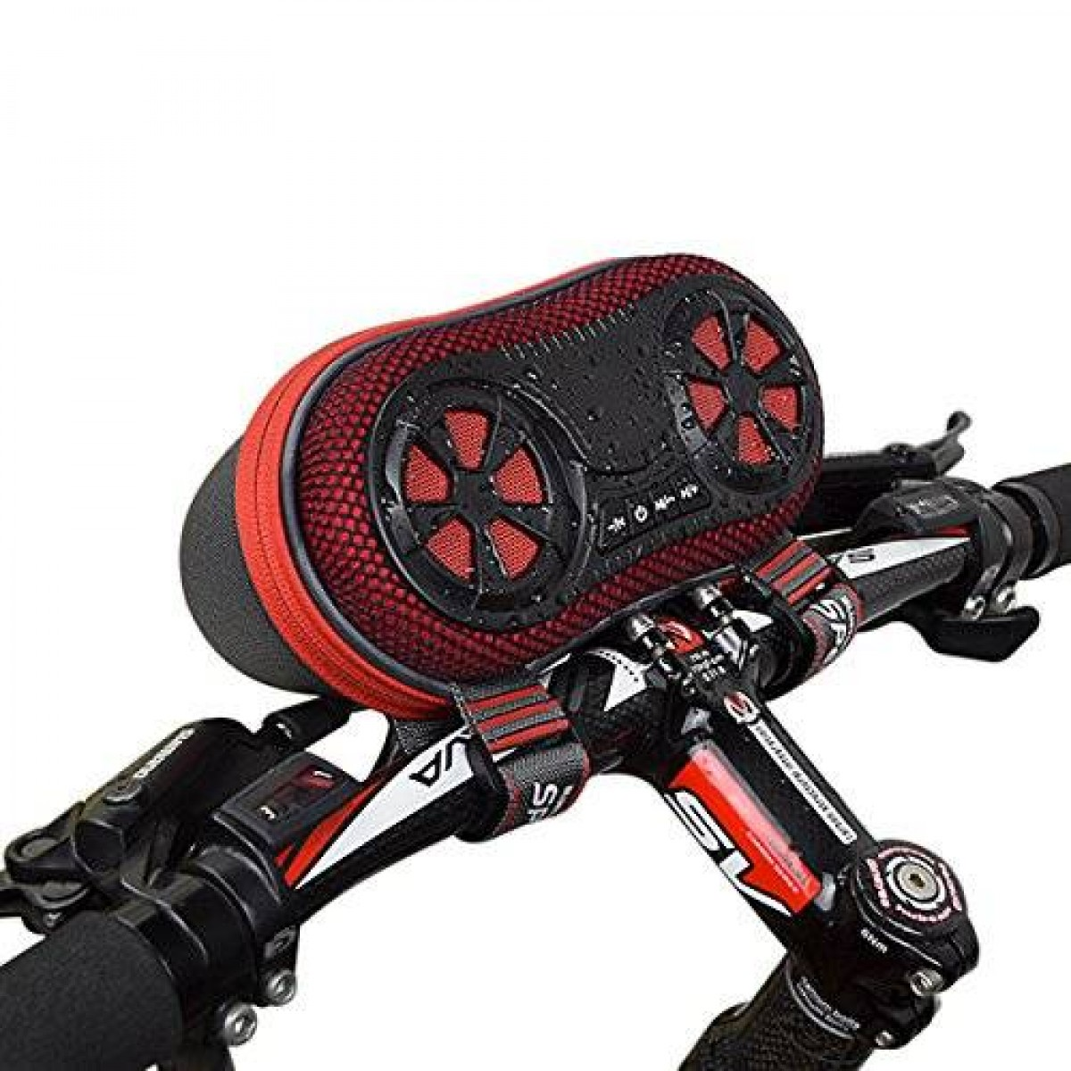 ECEEN Wireless Bluetooth Speaker Bicycle Speaker Case with Hands Free Speakerphone Calls and Rechargeable 4