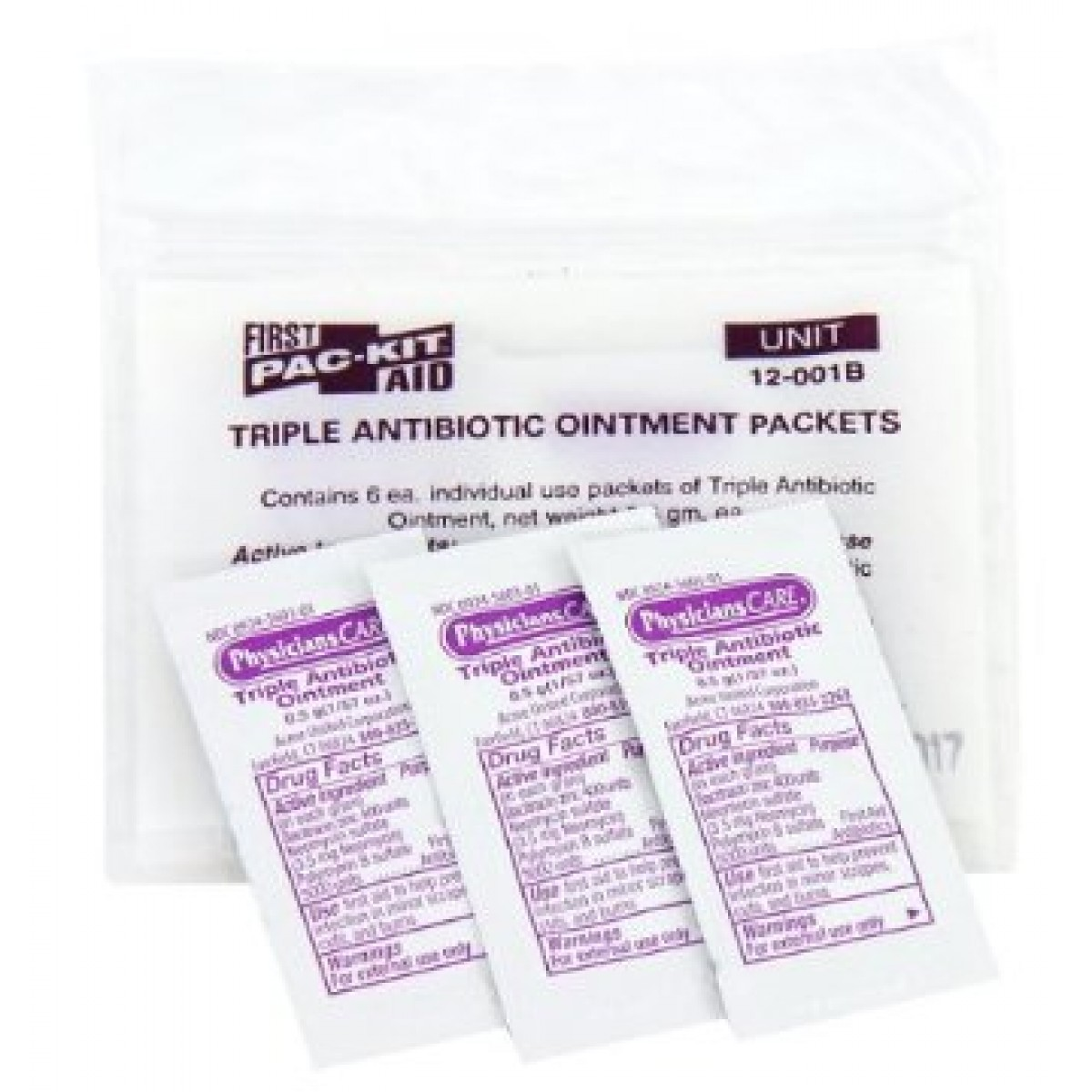 Pac-Kit 12-001 Triple Antibiotic Ointment Packet (Box of 12)