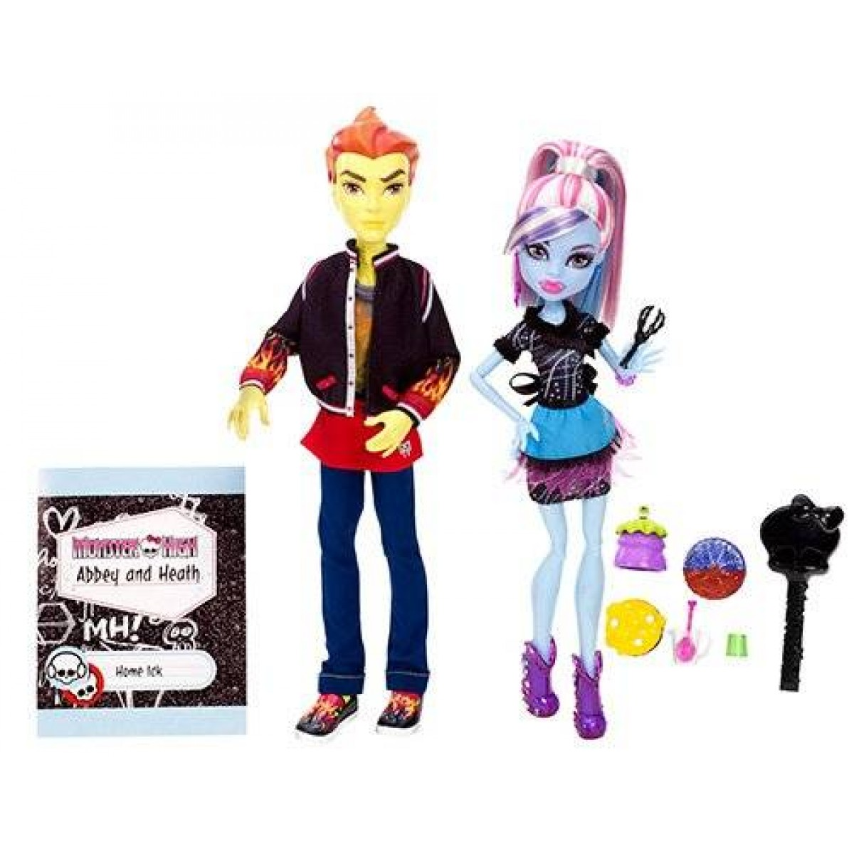 monster high home ick abbey bominable and heath burns 2pack