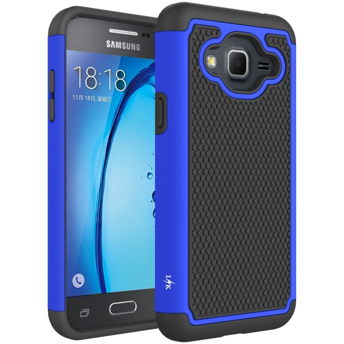info for b733a fbff4 J3 Case, Express Prime Case, Amp Prime Case, LK [Shock Absorption] Hybrid  Armor Defender Protective Case Cover for Samsung Galaxy J3 / Express Prime  / ...