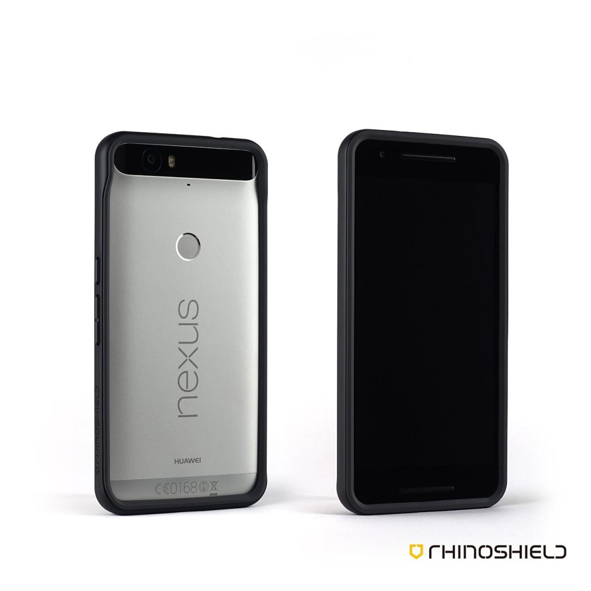 the best attitude 7f73d 7c466 Nexus 6p Case, RhinoShield (CrashGuard) Heavy Duty 11 ft Drop Protection -  Thin Lightweight Protective Bumper - Perfect w/ Skin - Black