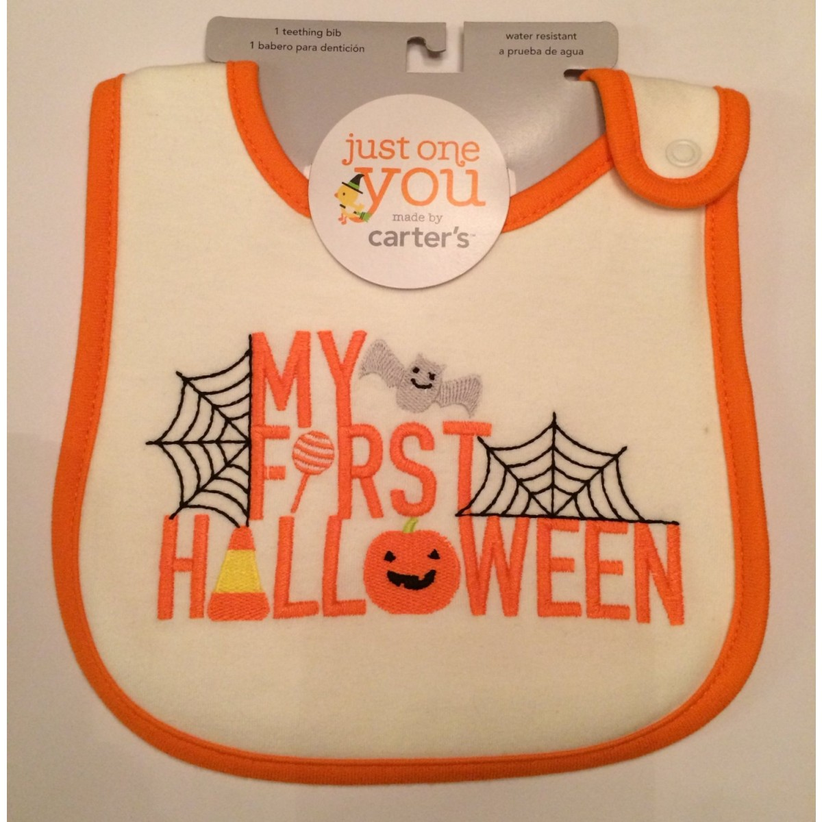 carters just one you my first halloween bib