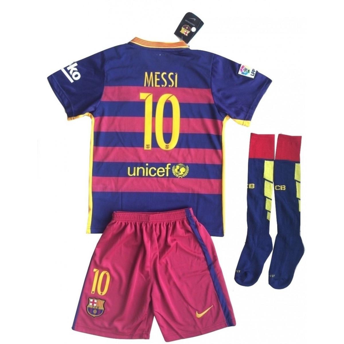6c89c74abb7 Malinkakova Barcelona Messi #10 Soccer Jersey Set (Shirt + Shorts + ...