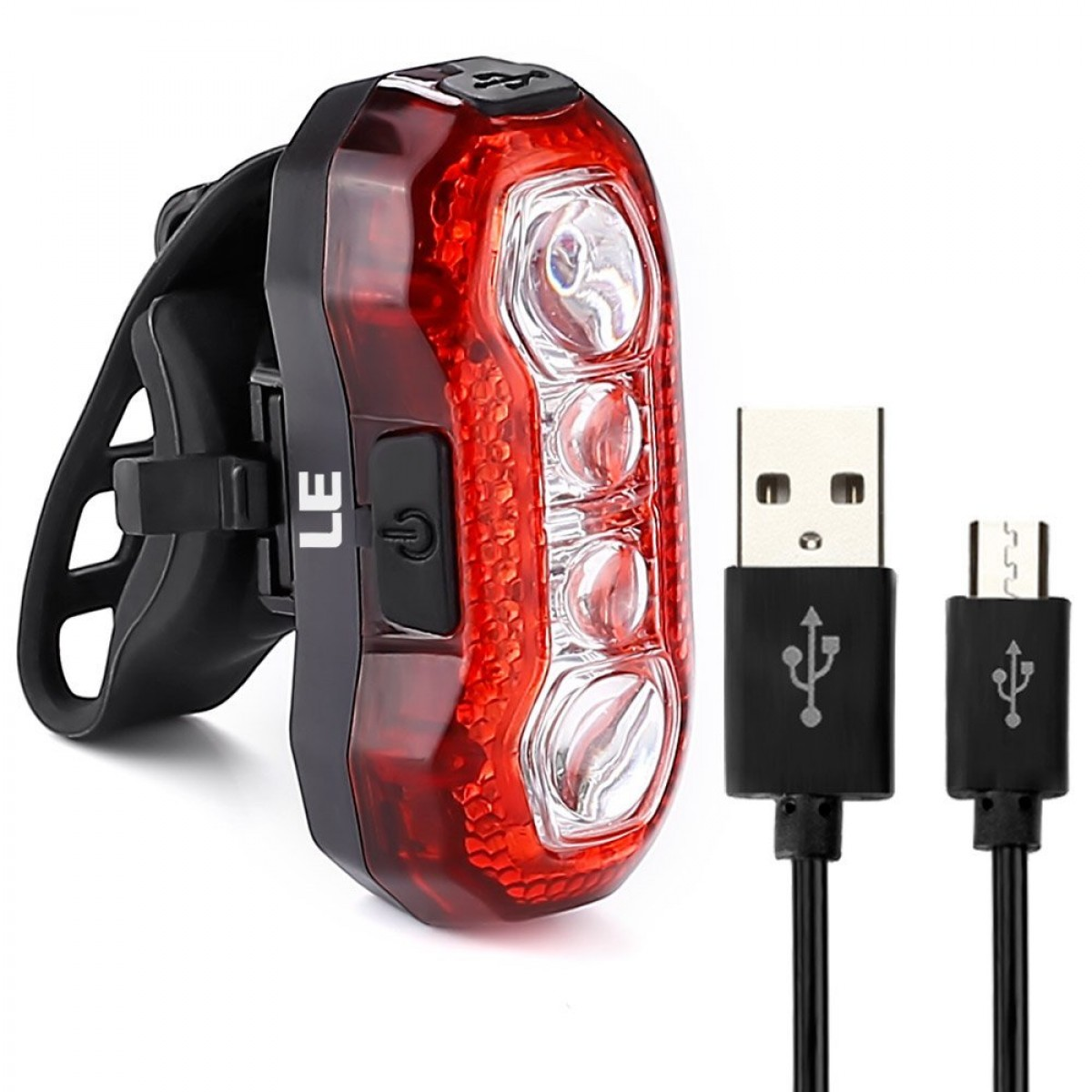 Lighting Ever Le Super Bright Bike Light Waterproof Cycling Usb Rechargeable Rear Tail