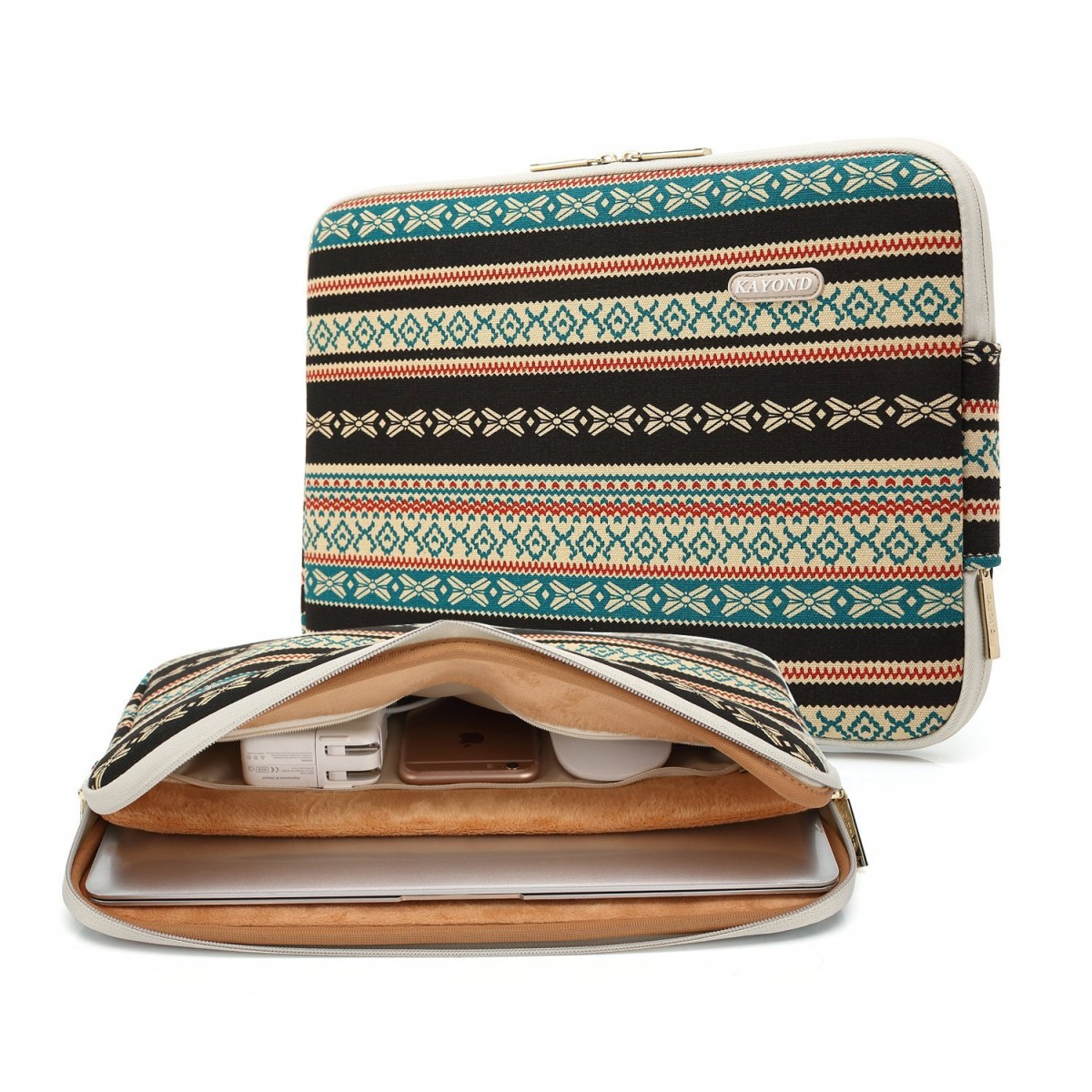 47f468dd1185 Kayond Bohemian Water-resistant Canvas Fabric 15-15.6 Inch laptop Sleeve  Case Bag For Notebook Computer / MacBook / Macbook Air/MacBook Pro (15-15.6  ...