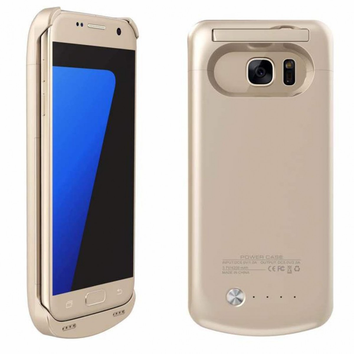 huge selection of f913c dbbf6 Galaxy S7 Battery Case,Caka 4500 Mah Backup External Battery Charger Case  for Samsung Galaxy S7 Portable Backup Power Bank Case with Kickstand - ...