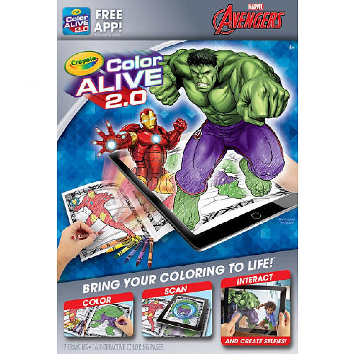 Crayola Color Alive 2.0 Interactive Coloring Book - Marvel Avengers