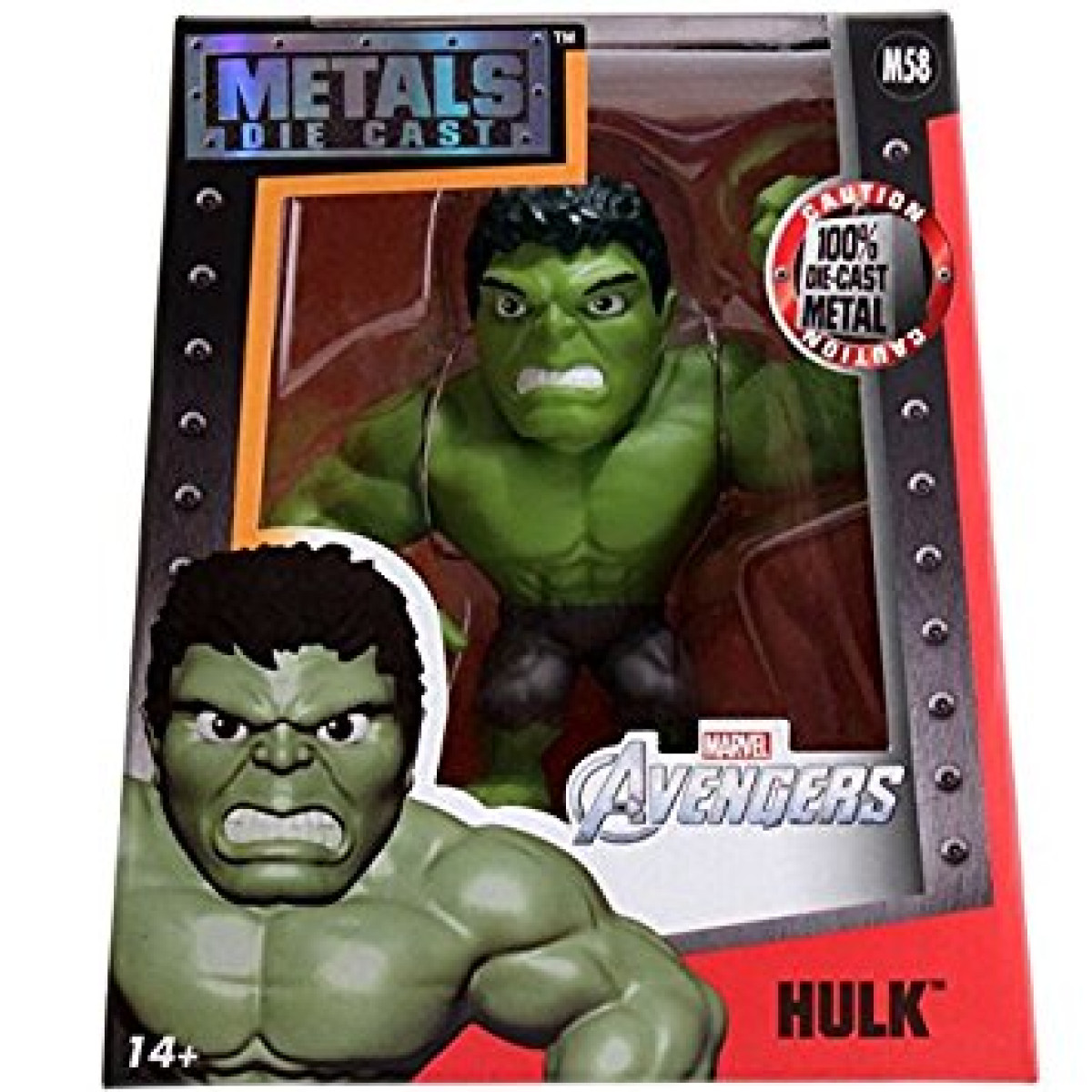 Hulk Metals Marvel 4 inch Classic Figure M58