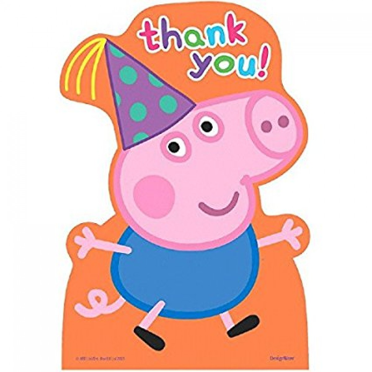 Amscan Peppa Pig Birthday Party Postcard Thank You Cards, Multicolor, 4  1/4