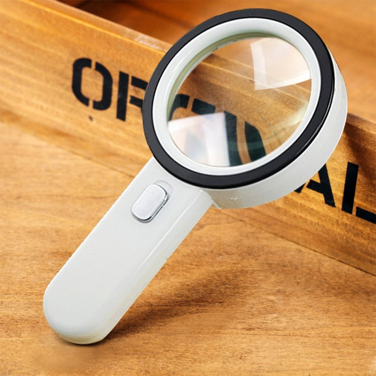 Number One 10x Led Lighted Magnifier Handheld Magnifying Glass Illuminated Lens With 12 Lights 80mm Large Viewing Mirror