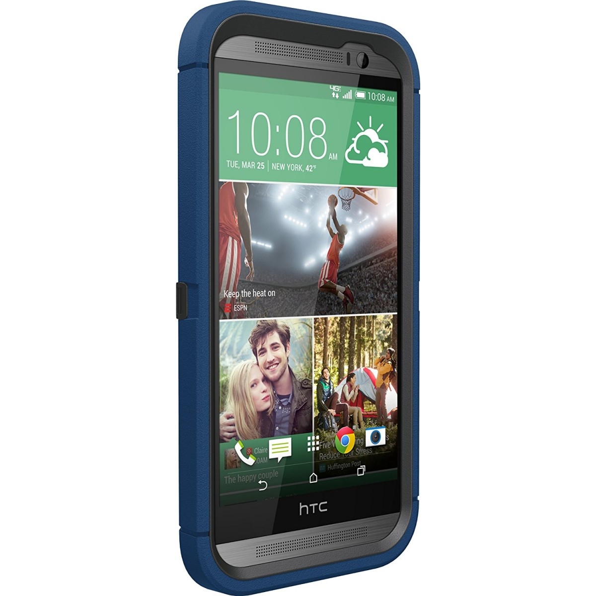 watch 2fd71 4fff3 OtterBox Defender Series for HTC One M8 - Retail Packaging - Blueprint  Grey/Deep Water
