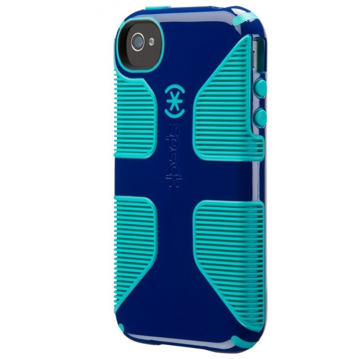 san francisco f4ec0 21ff4 Speck Products CandyShell Grip Case for iPhone 4/4S - Cadet Blue/Caribbean  Blue