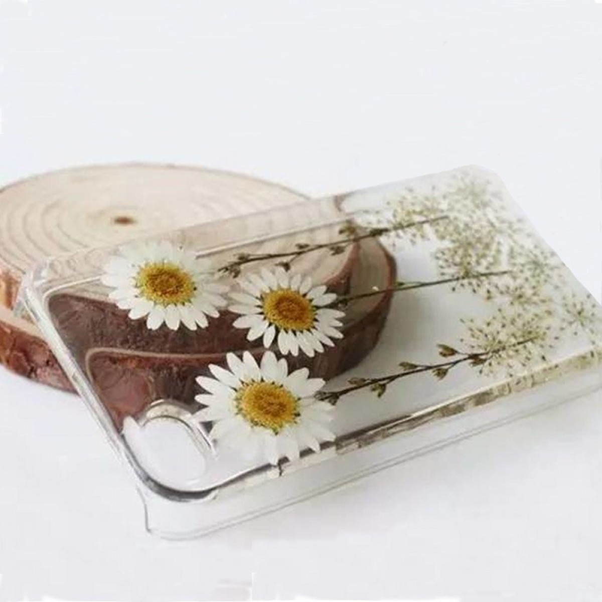 premium selection 0e31a b4c5f Rebbygena iPhone 5S iPhone SE Flower Phone Case Custom Daisy Floral Real  Pressed Flowers Phone Case for iPhone 5s Dried Flower iPhone Case