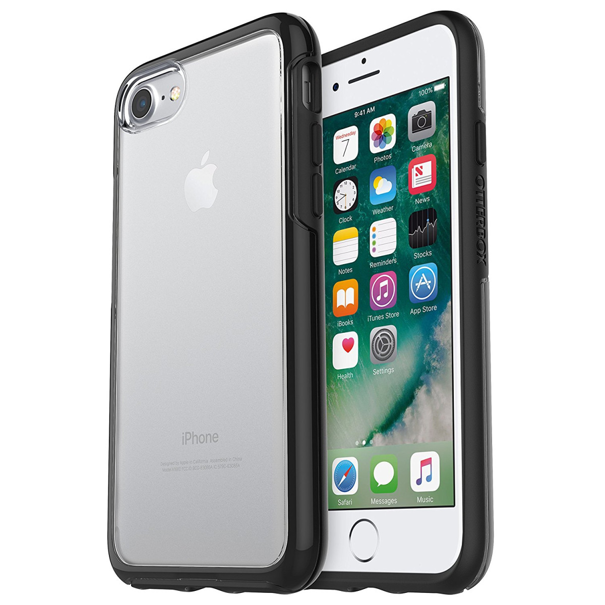 newest collection 864de 17dc6 OtterBox SYMMETRY CLEAR SERIES Case for iPhone 8 / 7 - Retail Packaging -  BLACK CRYSTAL (CLEAR/BLACK)