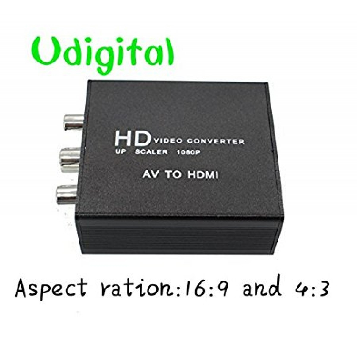 Udigital Mini Update Rca Av Cvbs Composite Video To Hdmi Converter Support Full Hd 1080p Adapter 169 And