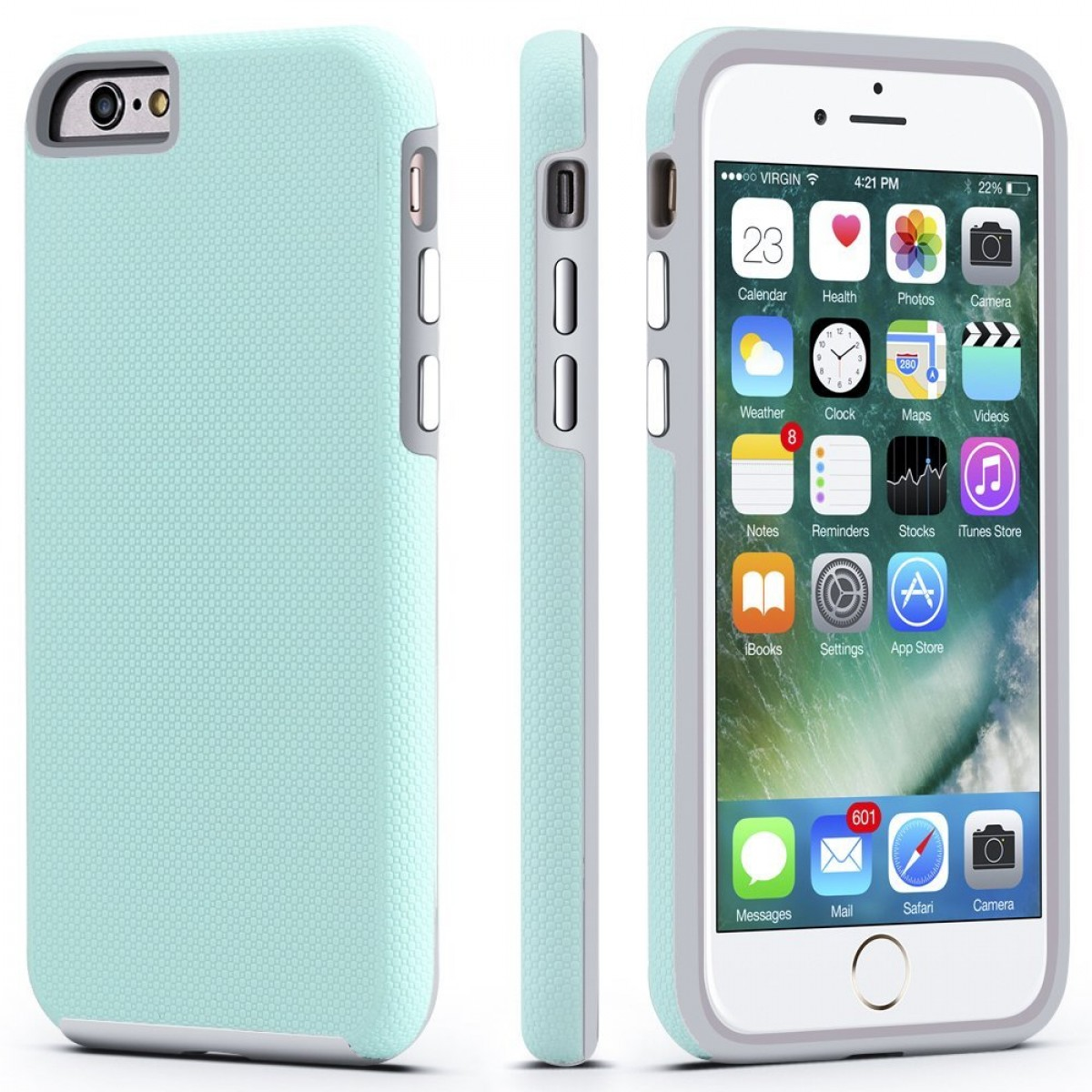 release date 8cd07 5129e iPhone 6 Plus Case, CellEver Dual Guard Protective Shock-Absorbing  Scratch-Resistant Rugged Drop Protection Cover for Apple iPhone 6 Plus / 6S  Plus ...