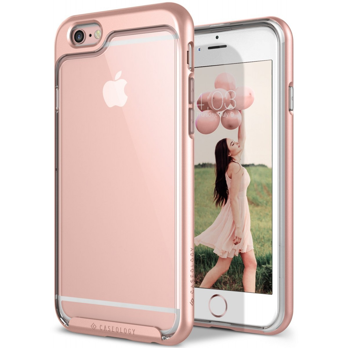 size 40 9746e 9fd1c Caseology [Skyfall Series] Case for iPhone 6 / iPhone 6S - Slim Design  Clear Transparent Protective Scratch Resistant Air Space Cushion Cover -  (Rose ...