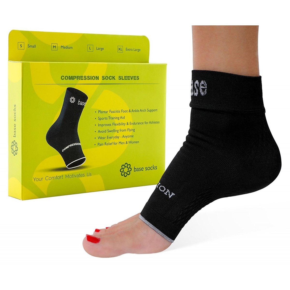 c2ad7af6ddb Plantar Fasciitis Socks - BEST German Medical Grade Compression Foot Sleeves  – Ideal for Foot Care, Ankle and Arch ...