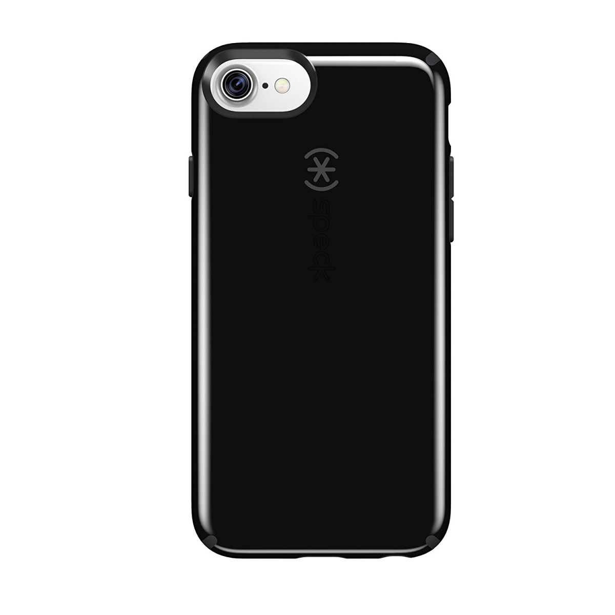 new styles 5d526 78198 Speck Products CandyShell Cell Phone Case for iPhone 8 (Also fits 7/6S/6) -  Black/Slate Grey