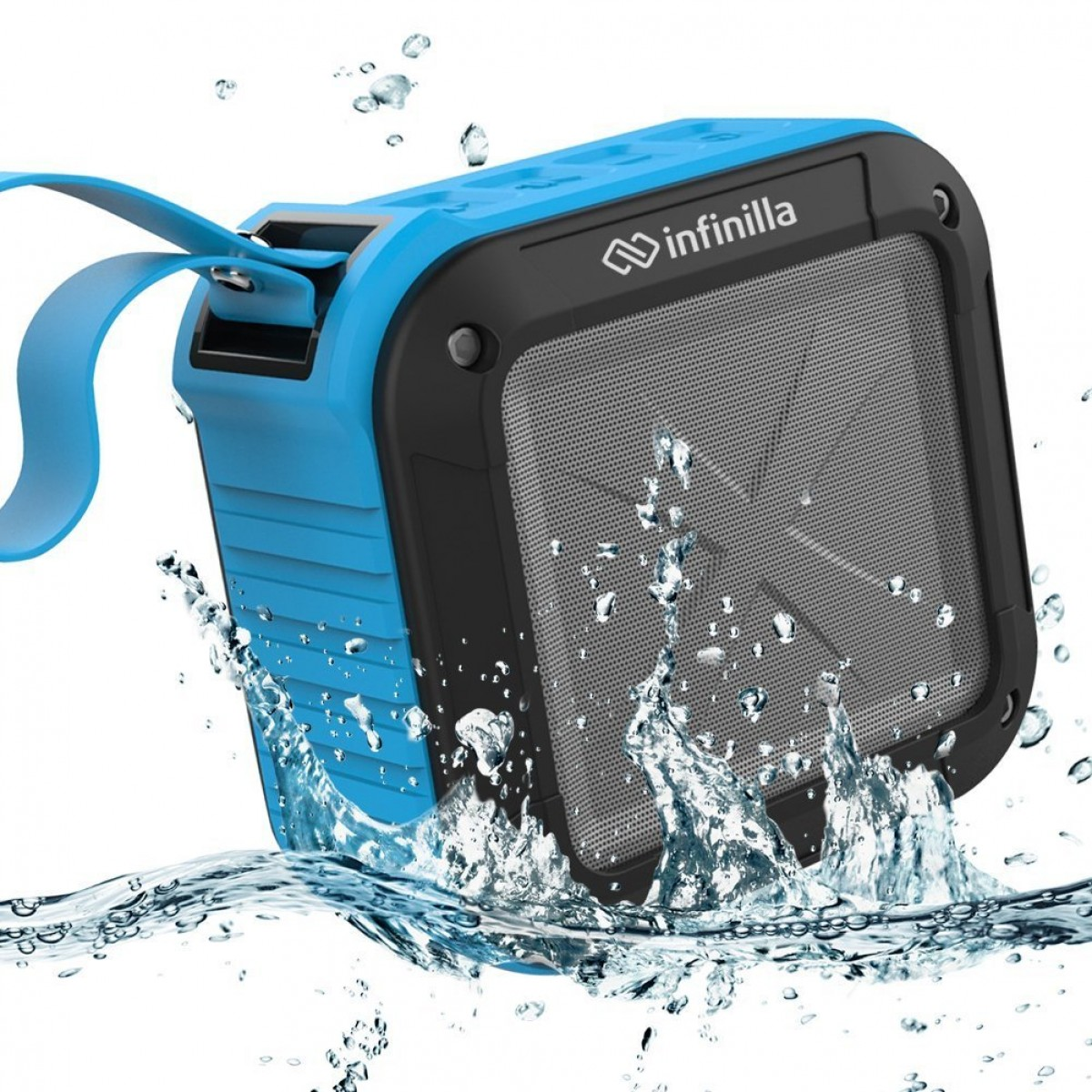 Infinilla Waterproof Bluetooth Speakers Portable Wireless Speaker Outdoor Mic For Shower Beach And Golf 12 Hour Playtime