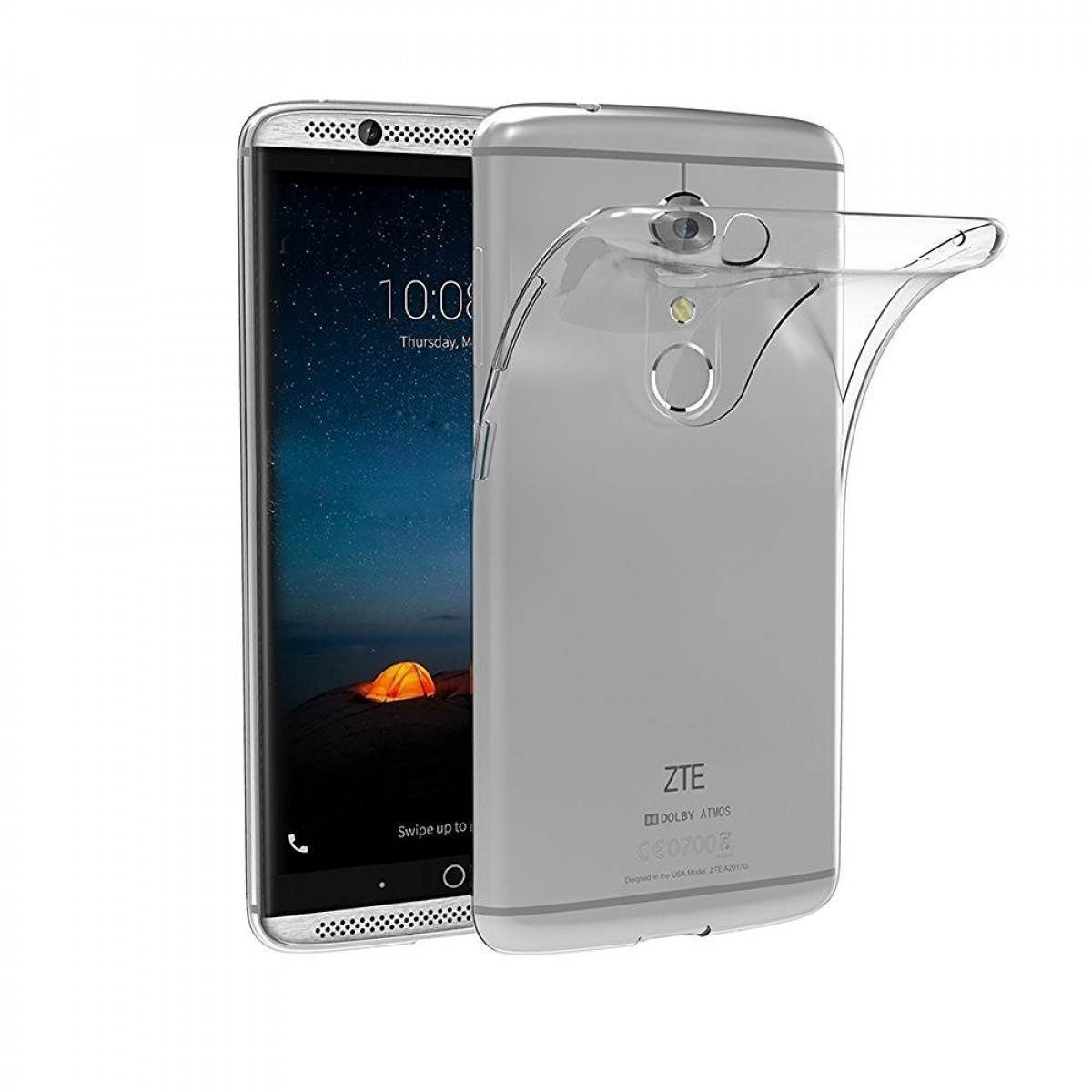 ZTE Axon 7 Case, iVoler Ultra-Thin [Crystal Clear] Premium Shock-Absorption  / Slim Fit / NO Bulkiness Soft Flexible TPU Protective Cover Case for ZTE