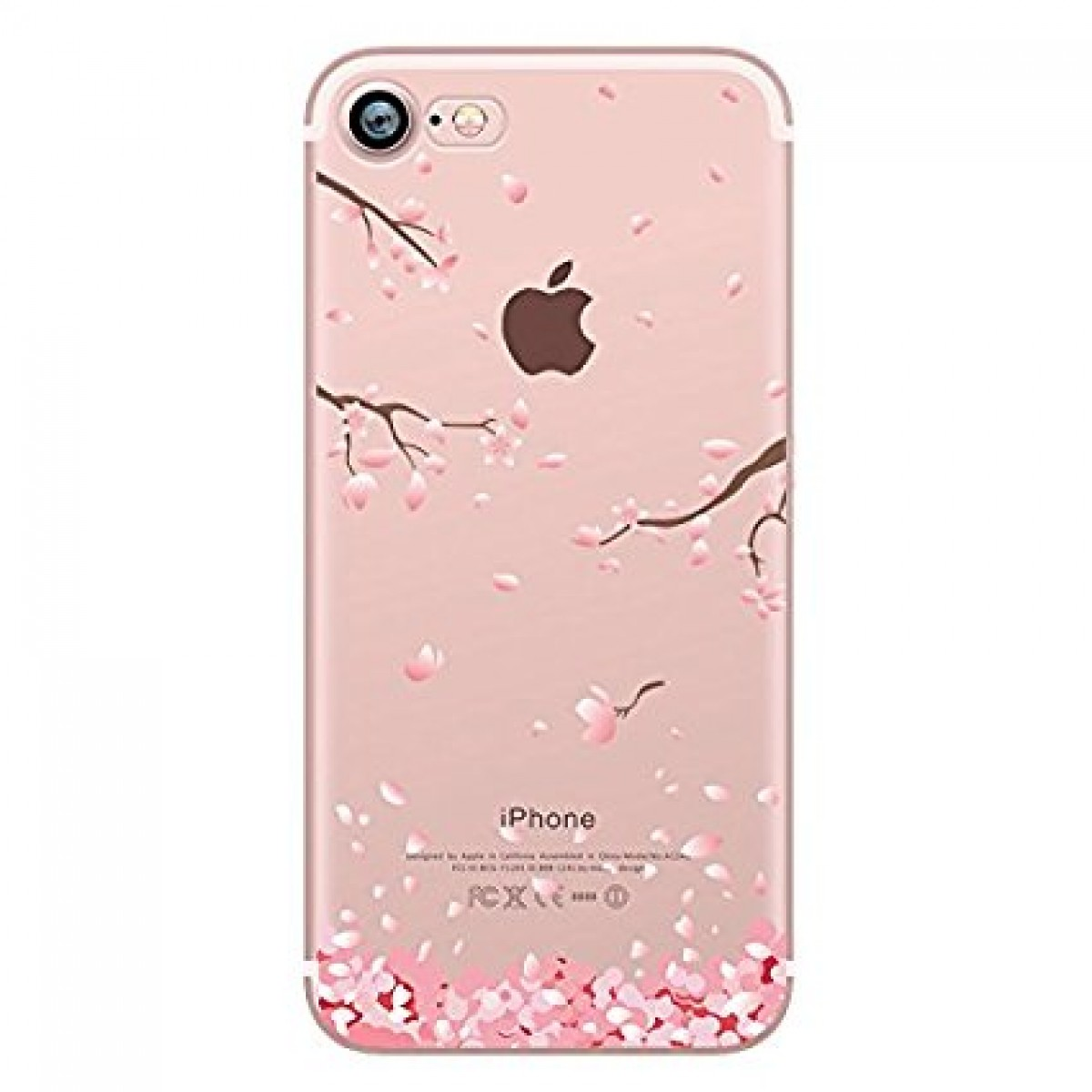 timeless design 2b134 6d650 iPhone 8 Case, iPhone 7 Case, Hepix Cherry Blossom Floral Print Transparent  Case with TPU Edge Bumper Soft Protective Cover [4.7 inch]