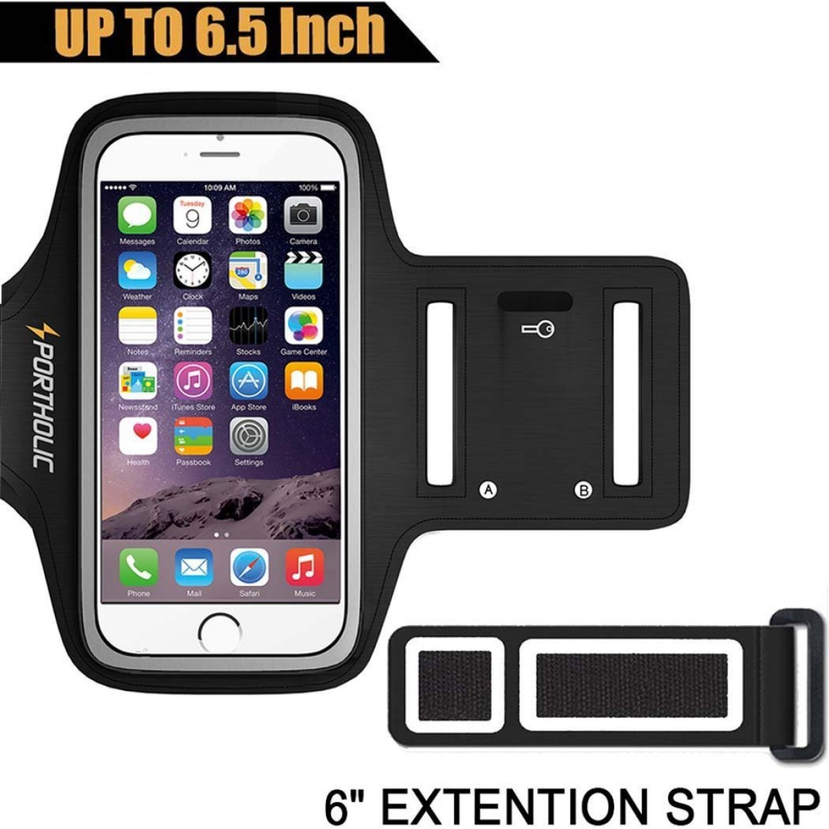 on sale 93508 a0f93 Large Running Armband for iPhone 8 Plus 7 Plus 6s Plus 6 Plus, Samsung  Galaxy S8 Plus, Note 8/3/4/5, LG G6 (fits Otterbox Defender/ Lifeproof  case) ...