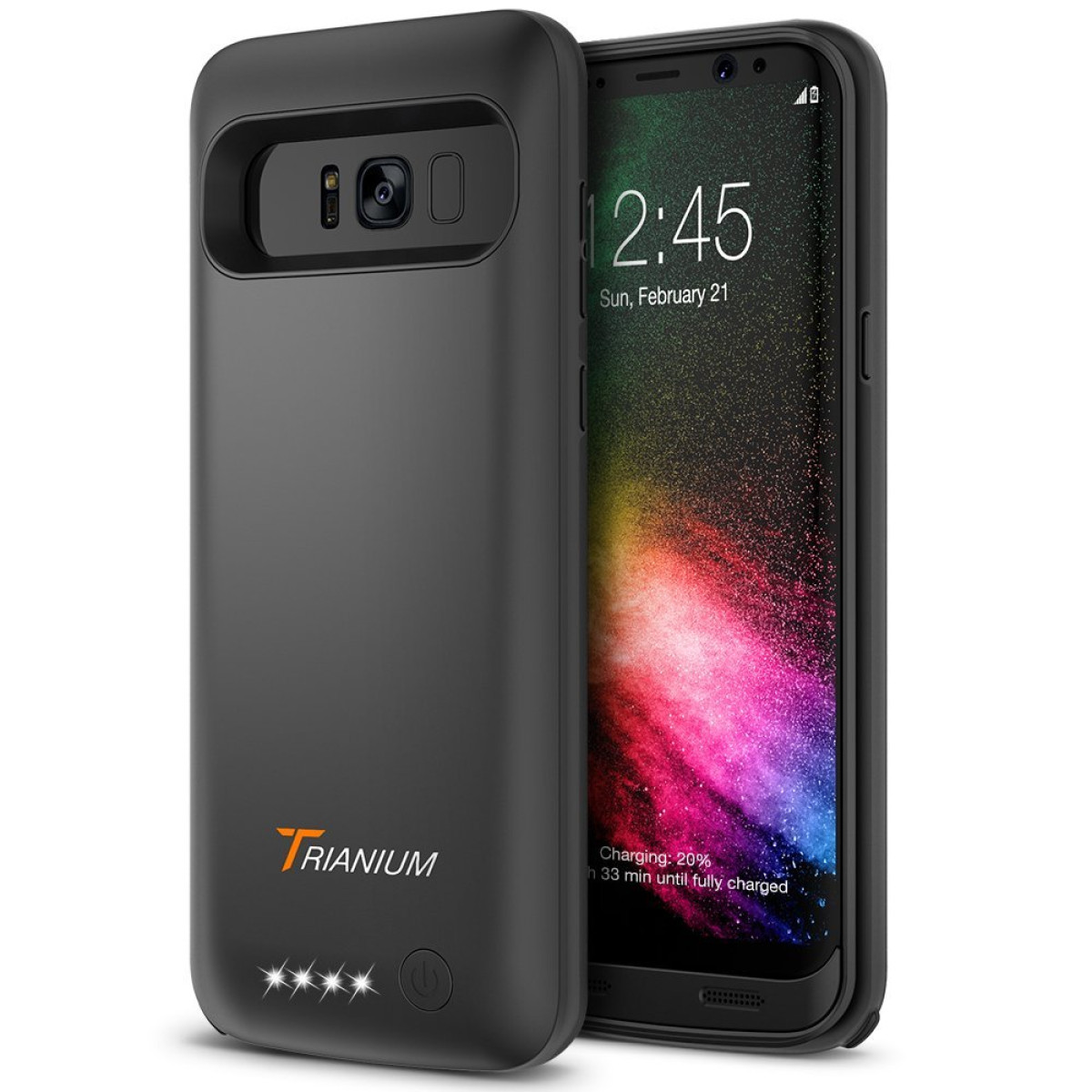 best sneakers 8994f 80593 Galaxy S8 Plus Battery Case, Trianium Atomic Pro Battery Charger for  Samsung Galaxy s8 Plus / s8+ 6.2-inch Phone ONLY- 5000mAh Extended Battery  Juice ...