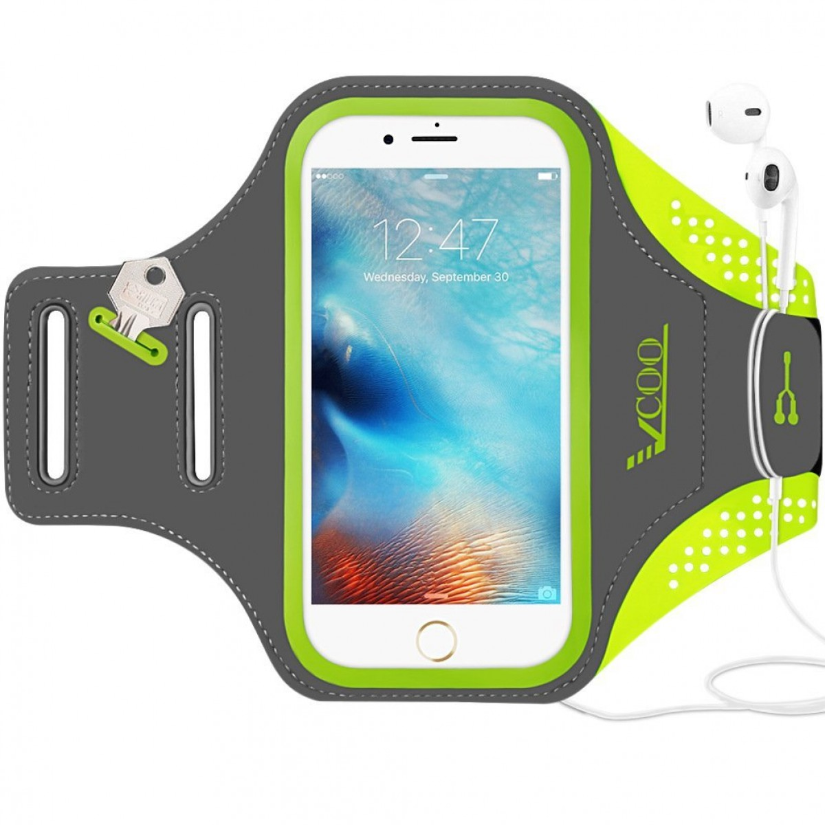 fa5bee429 Workout Armband for iPhone 7 Plus, VCOO iPhone 6s/6 Plus Arm Band for Sports,  Running ...