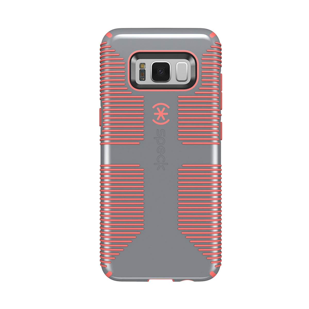 meet 451a9 7c7f5 Speck Products CandyShell Grip Cell Phone Case for Samsung Galaxy S8 -  Nickel Grey/Warning Orange