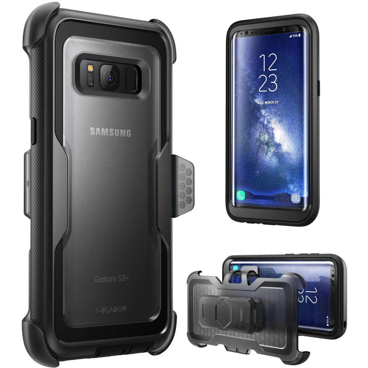 the latest f92a5 f5594 I-Blason Galaxy S8 Case, [Armorbox] [Full Body] [Heavy Duty Protection ]  Shock Reduction / Bumper Case Without Screen Protector For Samsung Galaxy  S8 ...