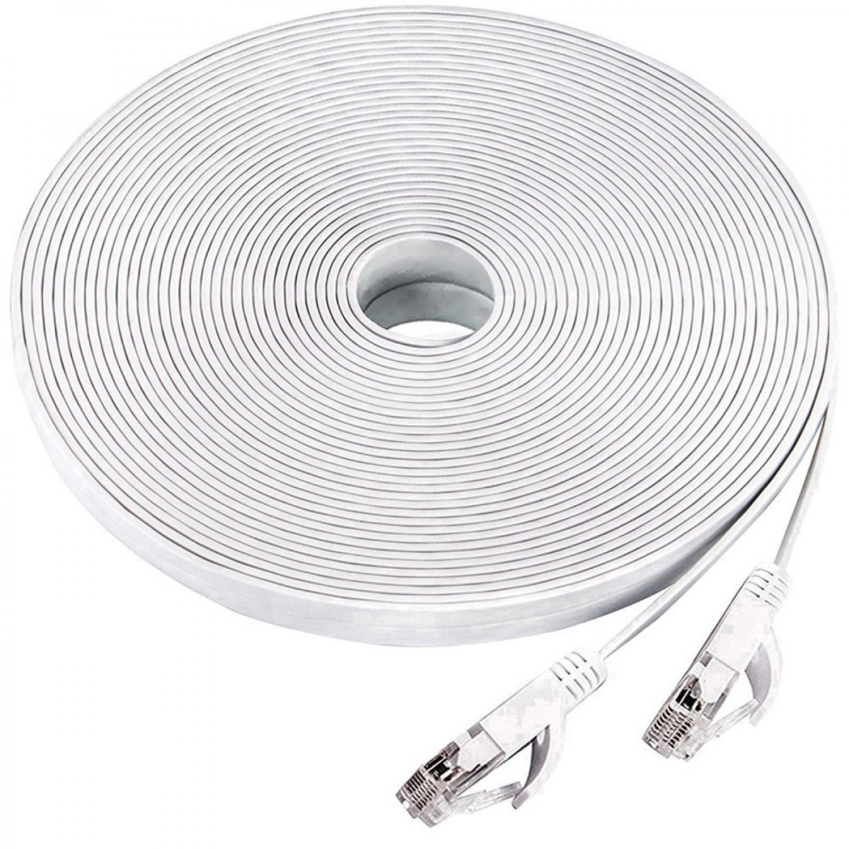 Ethernet Cable 50 Ft Cat 6 Flat Lan Computer Networking Cord Network Cables Cat5e Black Patch 32 Awg Foot Longsupports Cat6a Cat5