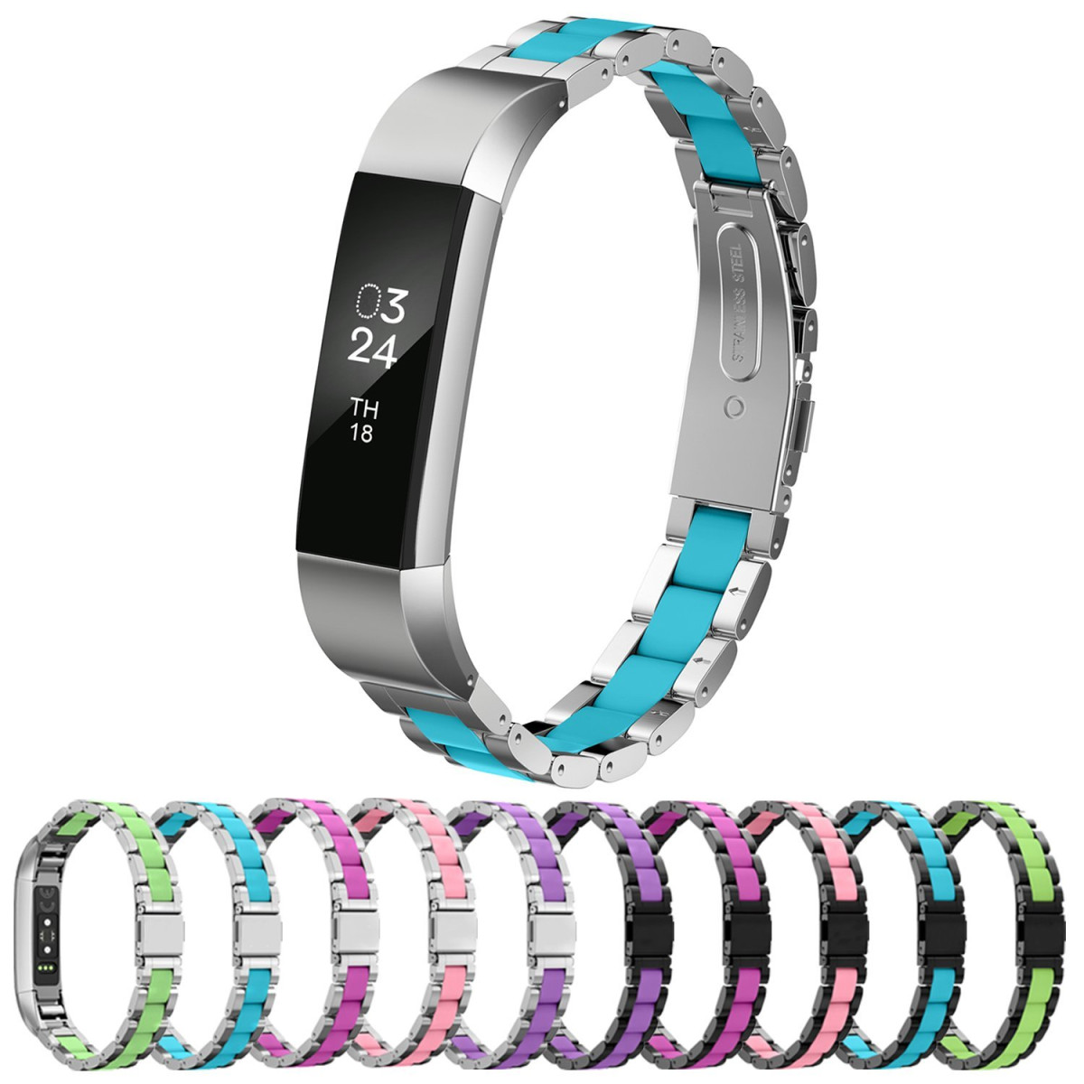 Greeninsync Fitbit Alta Bands Replacement Band Fits Plum Size Large Hr Metal Accessory Wristband Small