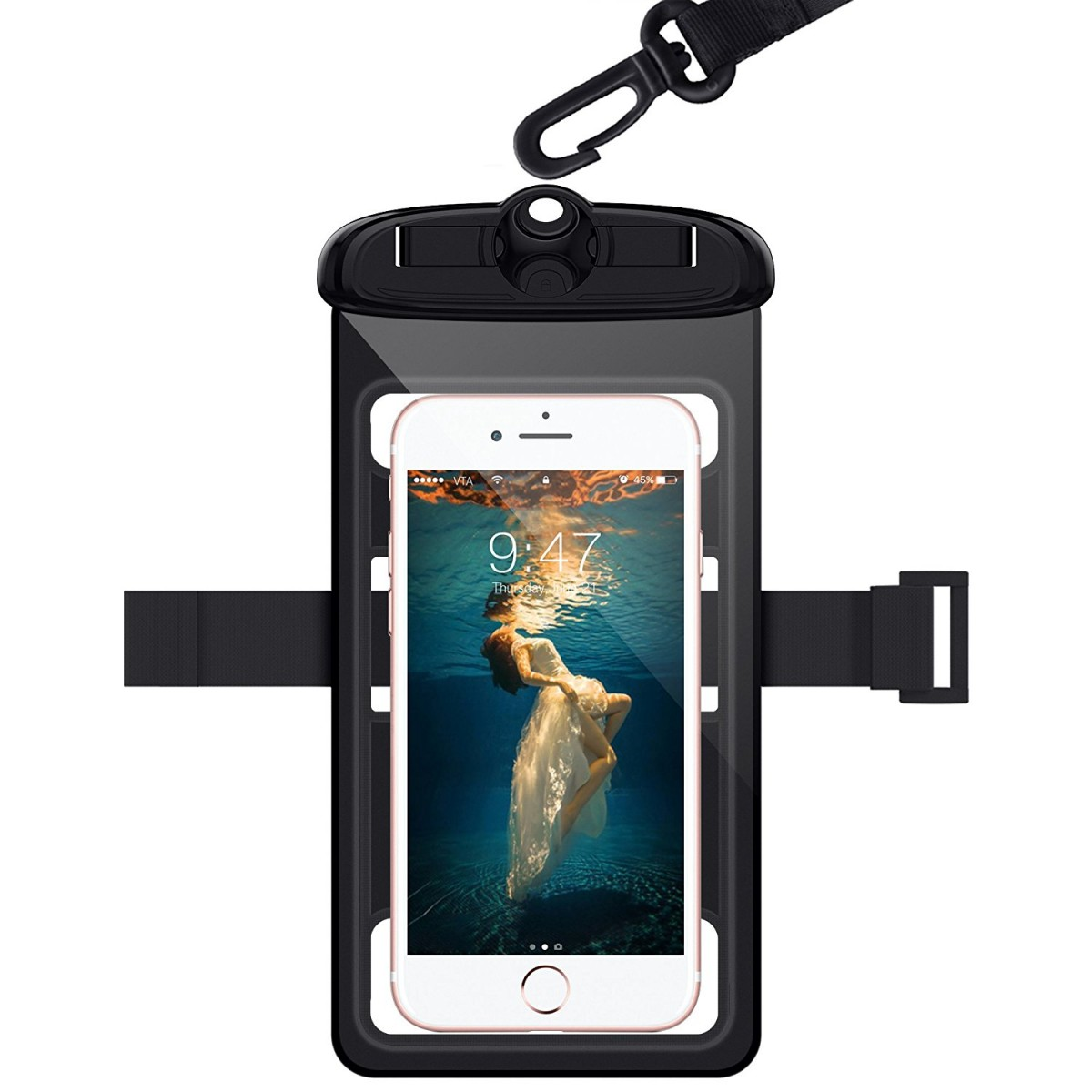 hot sale online 18590 9c5d8 WorCord Universal Waterproof Case [Triple Lock] Cellphone Dry Bag Pouch  with Armband Neck Strap for Outdoor Swimming Skiing Activies for iPhone, ...