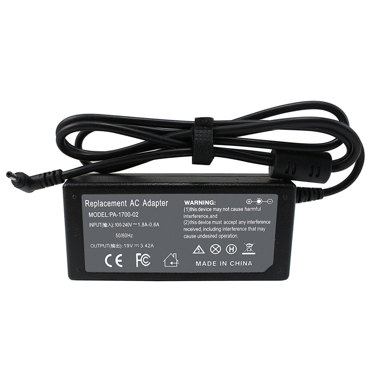 "Fite ON 65W AC Adapter Charger For Acer 720 C720P 11.6/"" Chromebook Power Supply"