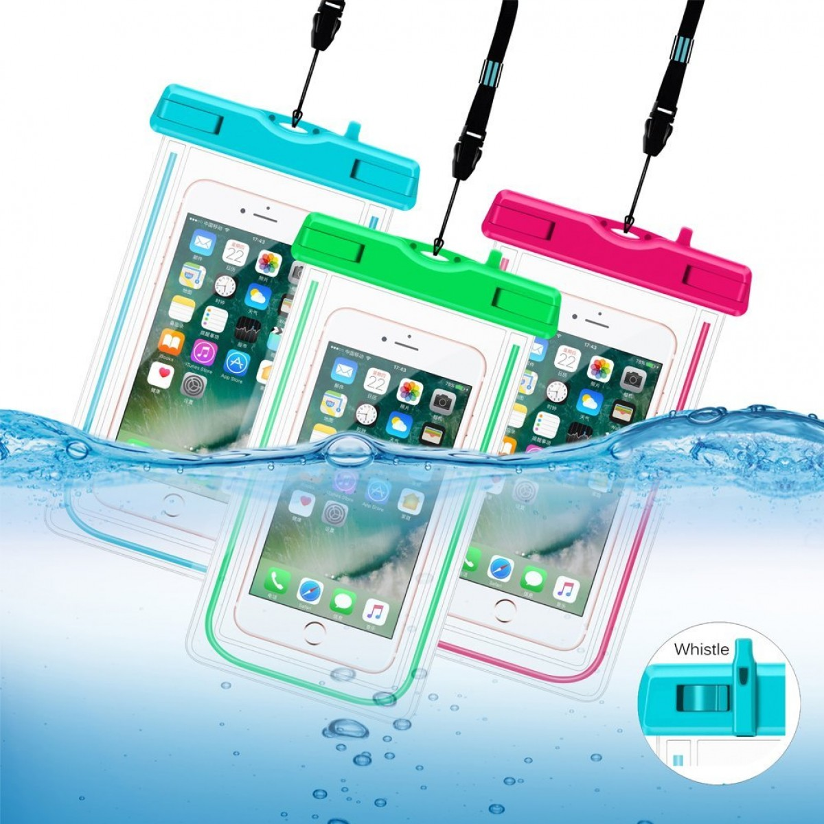 sale retailer a8744 a0089 Senbor Waterproof Case 3Pack Universal Cell Phone Dry Bag Pouch For IPhone  8 7 Plus 6s 6s Plus 5s Se Galaxy S8 S7 Edge Note 4 3 LG G6 G5 G4 HTC One X
