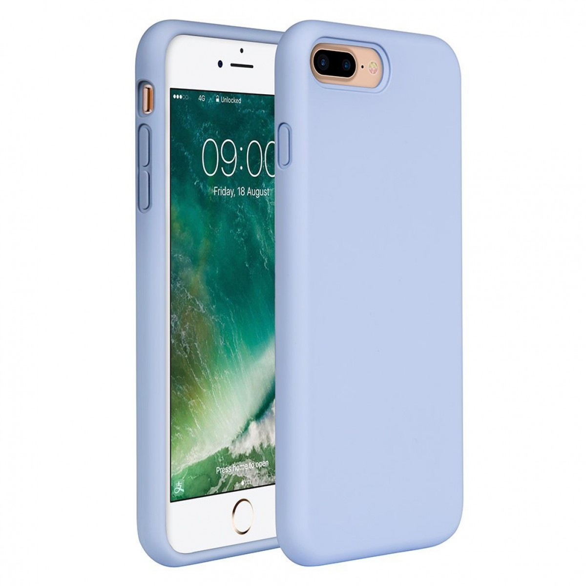 newest bb9cc 1c383 iPhone 8 Plus Silicone Case, iPhone 7 Plus Silicone Case Miracase Silicone  Gel Rubber Full Body Protection Shockproof Cover Case Drop Protection for  ...