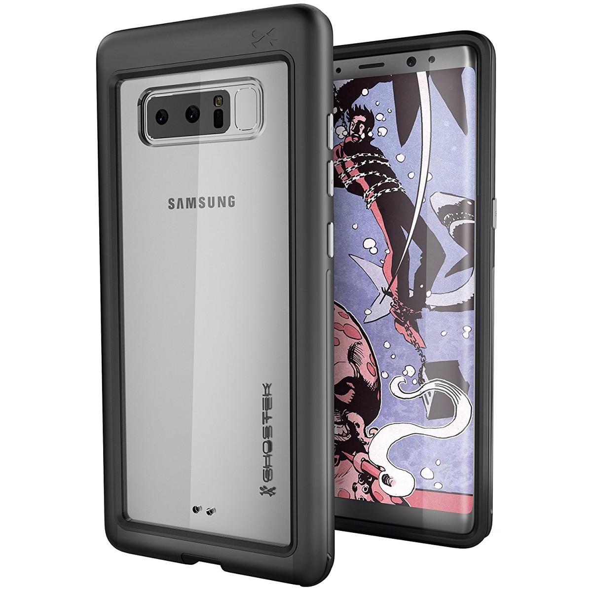 finest selection e418e 0f898 Ghostek Atomic Slim Premium Case for Galaxy Note 8 Military Grade Drop  Tested | Black