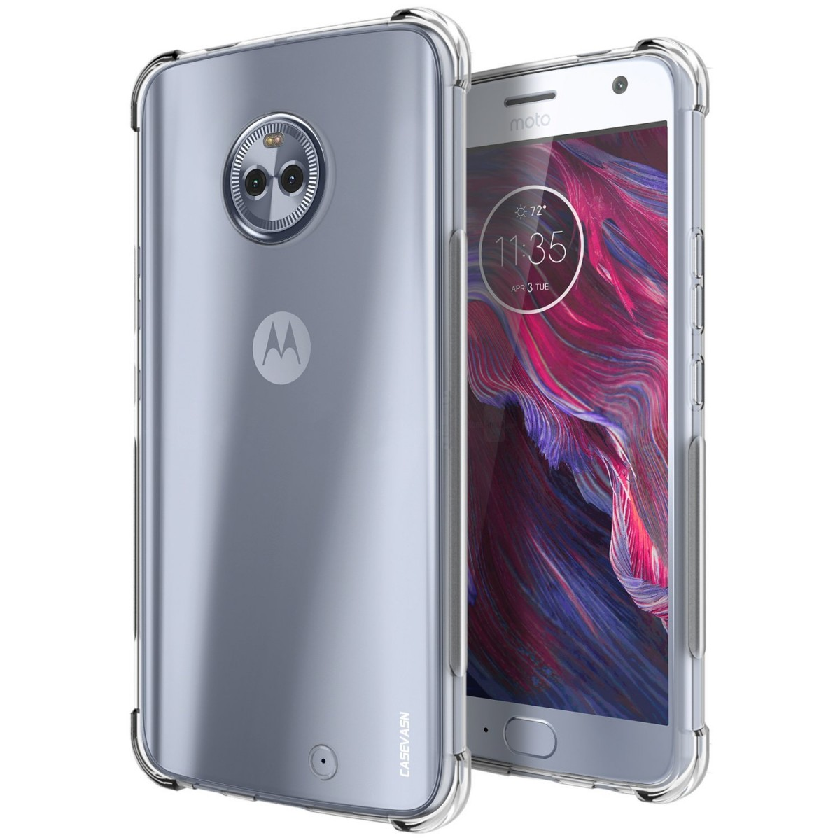 new style 36170 24fb9 Moto X4 Case, CASEVASN [Shockproof] Anti-Scratches Flexible TPU Gel Slim  Fit Soft Skin Silicone Protective Case Cover For Motorola Moto X4 (Clear)
