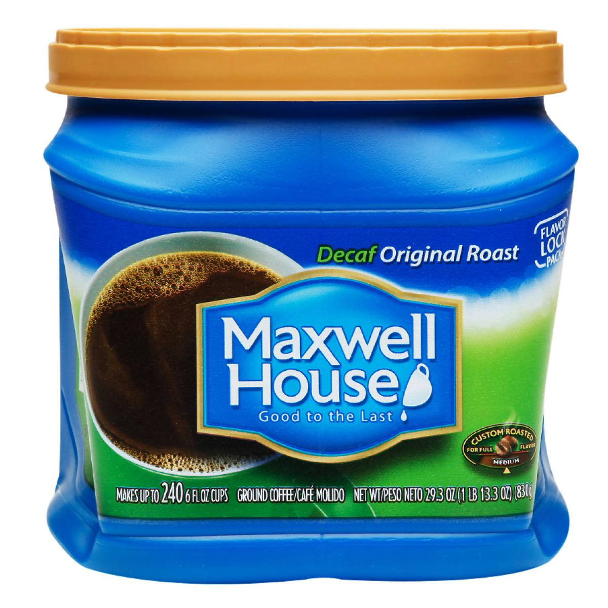 Maxwell House Ground Coffee Original Decaf
